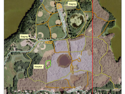 Figure 5: Map of Alimagnet Park harvest operations.