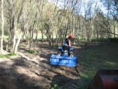 Burying the large seed, running the tiller slow and shallow, September 2007