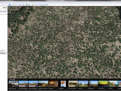 Satellite image of 11 year-old jack pine stand described in this case.